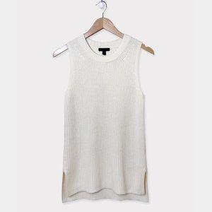 J.CREW Cream Knit Sweater Tunic Tank Top Size XS